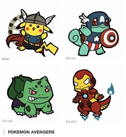pokemon avengers. <3