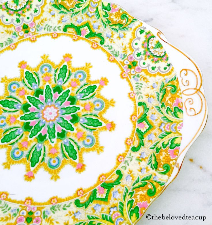 Royal Albert Paisley Shawl Crown China Cake Plate by TheBelovedTeacup on Etsy https://www.etsy.com/ca/listing/474062921/royal-albert-paisley-shawl-crown-china