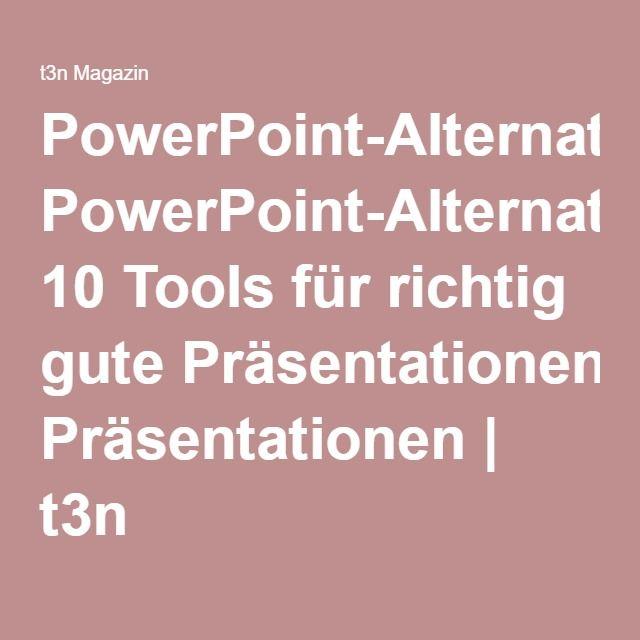 PowerPoint-Alternativen: 10 Tools für richtig gute Präsentationen | t3n
