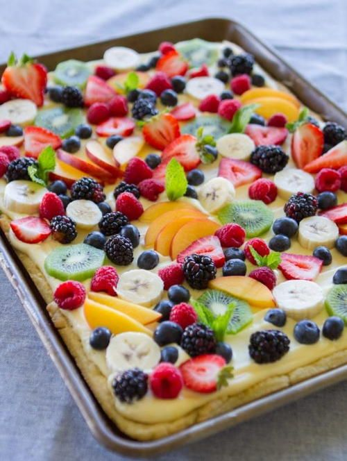 Easy Fruit Flan Recipe | The perfect desesert recipe for your next summer potluck!
