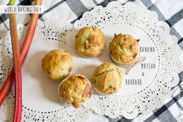 World Baking Day! Banana, Matcha & a hint of rhubarb!