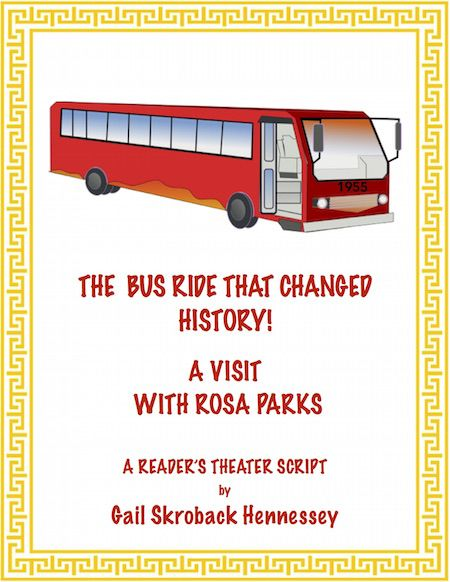 Learn about Rosa Parks with this Reader's Theater Script. Rosa Parks is a guest on a talk show and the studio audience asks questions about her life and contributions and how her bus ride helped to change history! There are 8 questioners, a Did You Know? fun fact section, comprehension questions, a teacher page with extension activities, the key and additional links.  https://www.teacherspayteachers.com/Product/Rosa-Parks-A-Readers-Theater-Script-2041121