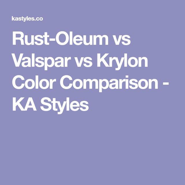 Rust-Oleum vs Valspar vs Krylon Color Comparison - KA Styles