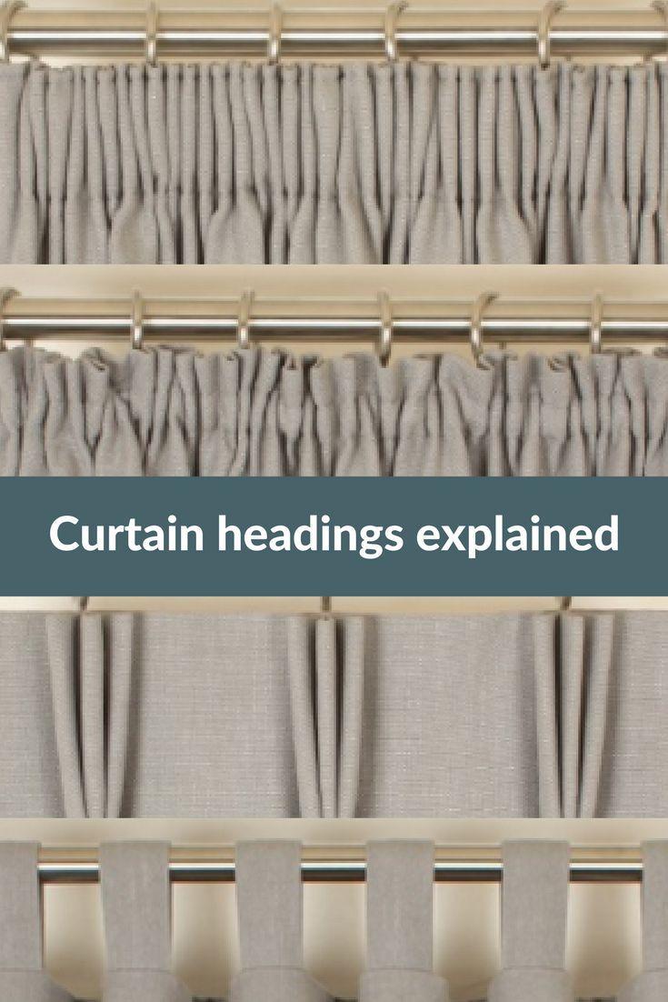 Curtain Headings Explained Curtain Headings Curtain Styles