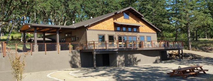 Yamhill Winery Tasting Room - design by Equine Facility Design, constructed by Cascade Buildings