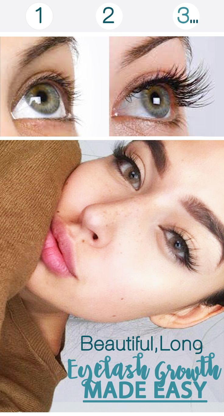 Grow long lashes just in time for summer.