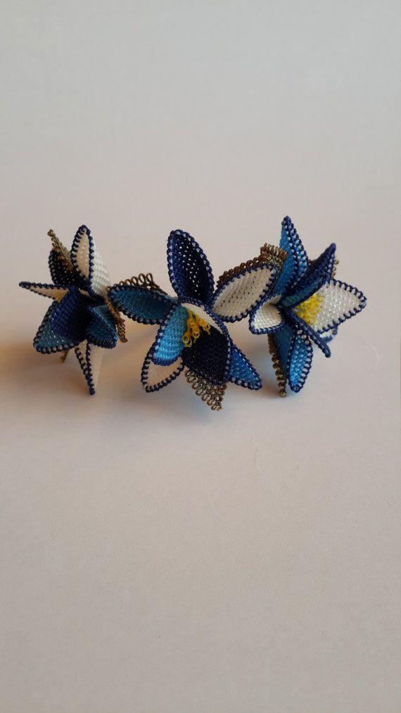 crochet flower brooch, turkish oya brooch, bouquet brooch, handmade brooch, jewelry handmade,floral brooch,bridesmaid gift,gift for her,OOAK