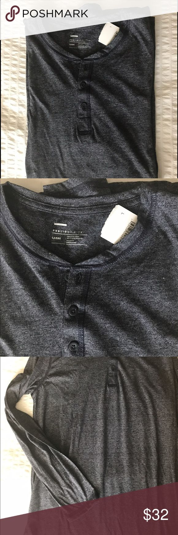 Public Opinion Long Sleeve Shirt Brand new Public Opinion Long Sleeve distressed blue tee shirt. Never worn. 🚫 No trades public opinion Shirts Tees - Long Sleeve