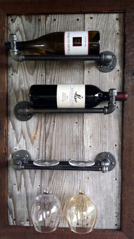 Wine Rack Reclaimed Wood barn wood by HammerHeadCreations on Etsy: