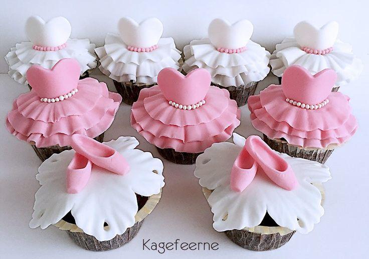 Ballet cupcakes - tutu and pointshoes / tåspidssko