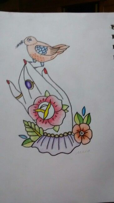 Solo mi  nieta Maria Camila puede pintar algo tan delicado y bello.