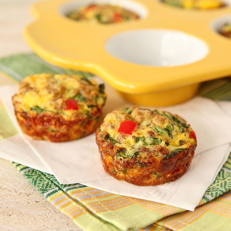 Kale and Mozzarella Mini Frittatas
