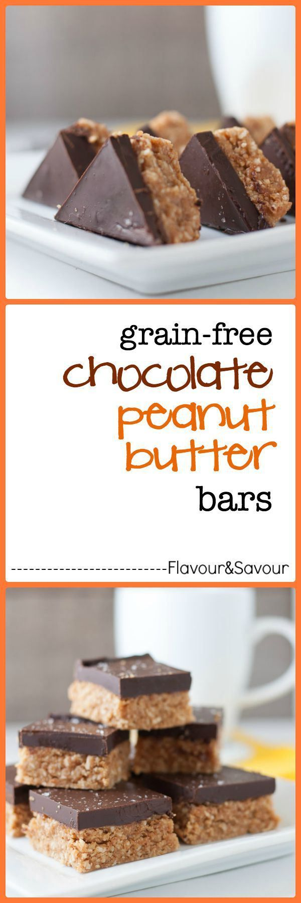 PALEO. Grain-free, no-bake Chocolate Peanut Butter bars. Ready in 20 minutes! A healthier version of the one's Mom used to make.