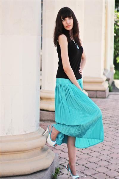Бирюзовая юбка фото
