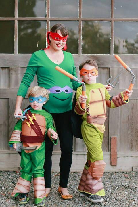Our Teenage Mutant Ninja Turtle Family Maternity Costumes
