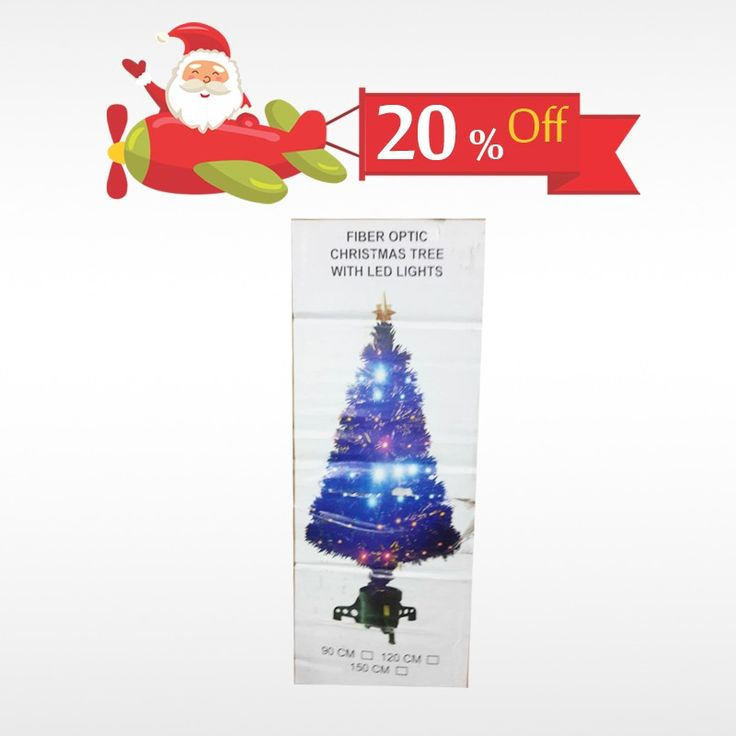 Buy authentic Fiber Optic Christmas Tree with LED Lights and make the #Christmas  celebration more unique. Get 20% off on all #ChristmasNeeds  only at #BringHomeFestival