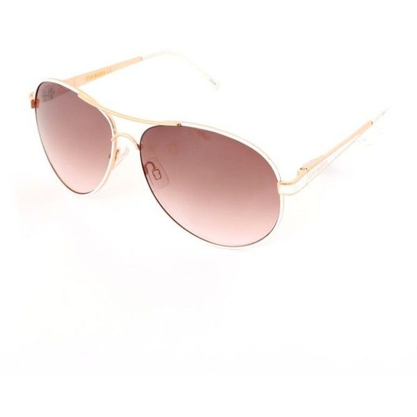 Steve Madden Rose Gold Aviator Sunglasses (39 CAD) ❤ liked on Polyvore featuring…