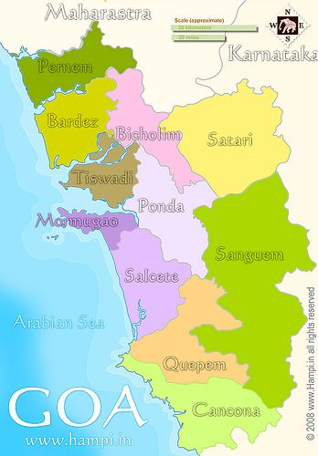 Goa is currently the smallest state of India by area. Generally known as the Konkan strip, it is bounded by the state of Maharashtra to the north, and by Karnataka to the east and south, while the Arabian Sea forms its entire western coast. Goa is India's richest state with a GDP per capita two and a half times that of the country as a whole. Panaji is the state's capital, Old Goa called Velha Goa is the former capital and Vasco da Gama is the largest city with a historical port. Goa is a…
