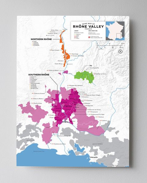 Rhône Valley–the origin of Syrah and Viognier As you float down the Rhône River you'll find some of the most mind-bending examples of Syrah and Viognier, as well as the storied Châteauneuf-du-Pape ble