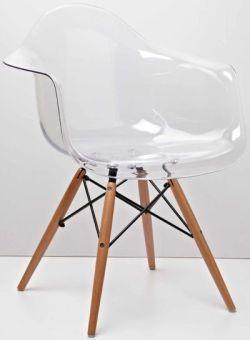 Стул кресло Тауэр вуд прозрачное стулья и кресла пластиковые для кафе бара ресторана дома 4ugla.com.ua