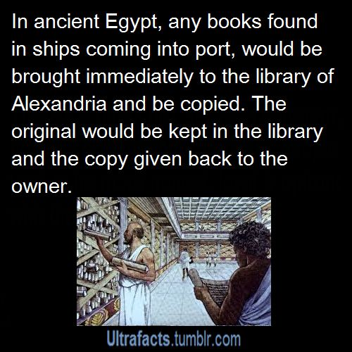 EVERY TIME SOMEONE BRINGS UP THE LIBRARY OF ALEXANDRIA I GET SO ANGRY. but why Because it got burned. All of that knowledge, lost forever. The library was destroyed over 1000's of years ago. The library consisted of thousands of scrolls and books about mathematics, engineering, physiology, geography, blueprints, medicine, plays, & ...
