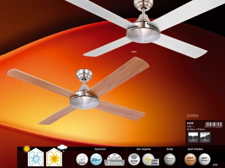 Купить Светильник С вентилятором DARIA 339 Globo (Австрия) в интернет магазине www.уютный-свет.рф