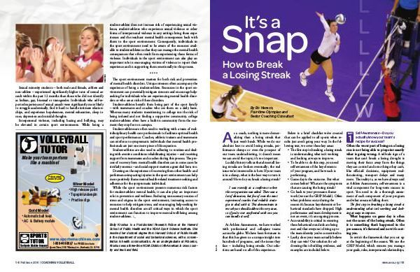 3 key ingredients to a successful team - SELF-AWARENESS, ACCOUNTABILITY and BELIEFS. Check out Bo's article 'How to Break a Losing Streak' in the latest American Volleyball Coaches Association (AVCA) Magazine. #AVCA #Success #SelfAwareness #Accountability #Beliefs