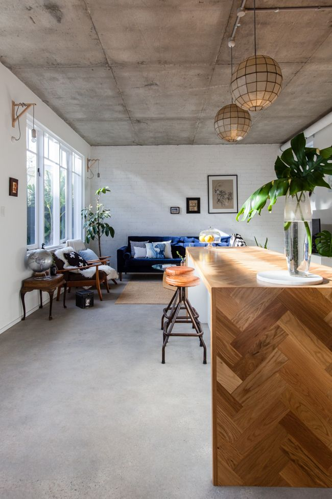 a new warehouse-style apartment in Perth, Western Australia.