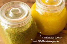 Rendimento: 8 porções Molho de mostarda e mel Ingredientes - ¼ xícara (chá) de sucodelimãotahiti - 2/3 xícara (chá) de azeiteextravirgem - 1 ½ colher