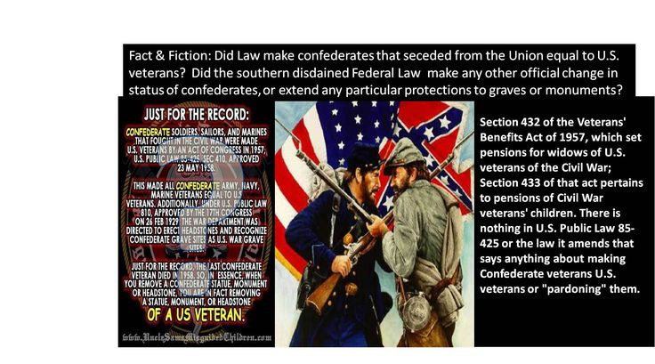 "Sue Sturgis 2015 after the Charleston massacre wrote ""Busting the myth that Congress made Confederate vets into U.S. vets"""