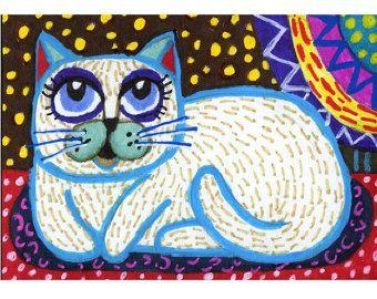 Kitty is genieten van de regen in deze print gevuld met kleurrijke lijnen en patronen. Oliepastel en acrylverf werden gebruikt voor de originele die ik nu als een print aanbieden ben. Deze art print zou goed werken in een childs kamer of een grote gift voor een kattenminnaar.  Rainy Day Cat is afgedrukt op hoge kwaliteit gesatineerd papier met archival inkten. Deze kunst print zal worden gemaild naar je platte via USPS eersteklas mail om ervoor te zorgen dat u het in de best mogelijke…