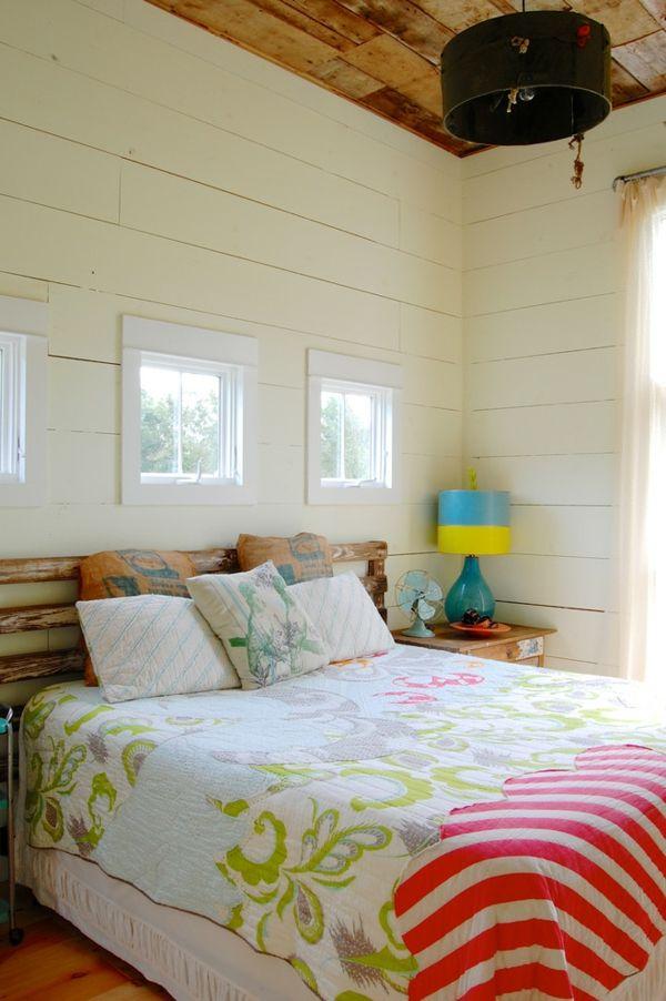 Holzpaletten Kopfteil Veraltet Doppelbett