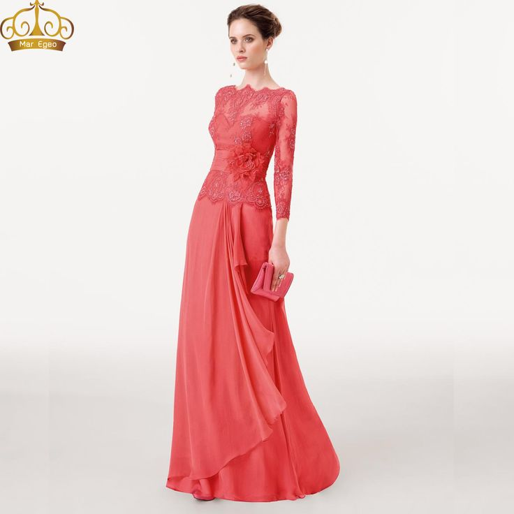 Coral Mother of Bride Gowns