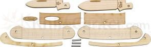 Case 12131C Wooden Pocket Knife Kit, Canoe, Light Wood Handles, Gift Box/Tin