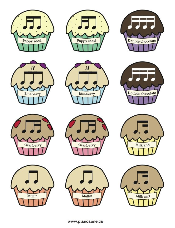 Rhythm Muffin Printable. Great ideas instead of the usual fruit that I use. She has a great blog for piano teaching.