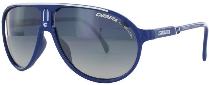Modèle carrera Champion-SML Bleu.  La Champion-SML est une Lunette de soleil de marque Carrera en acétate bleu, équipée de verres dégradés de catégorie 2.  Référence complète: Carrera_Champion-SML_8VDG5_57x11