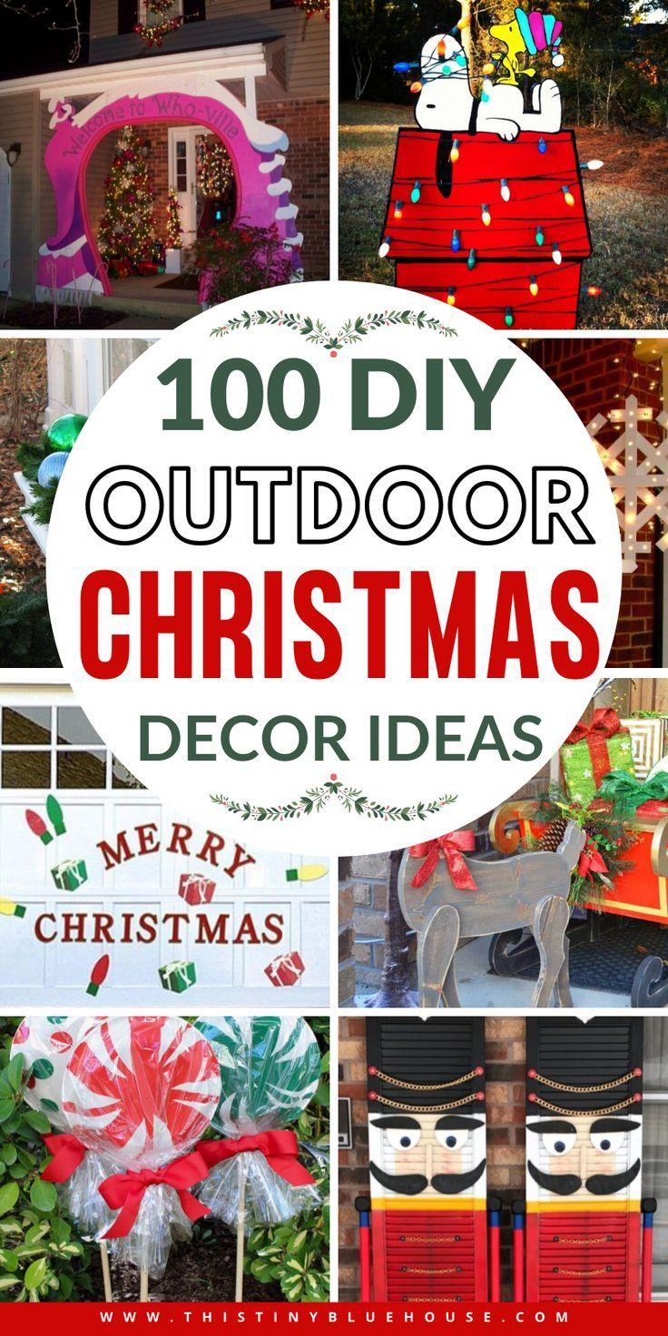 100 Best Festive Top Outdoor Christmas Decor Ideas Christmas Decorations Diy Outdoor Outside Christmas Decorations Outdoor Christmas