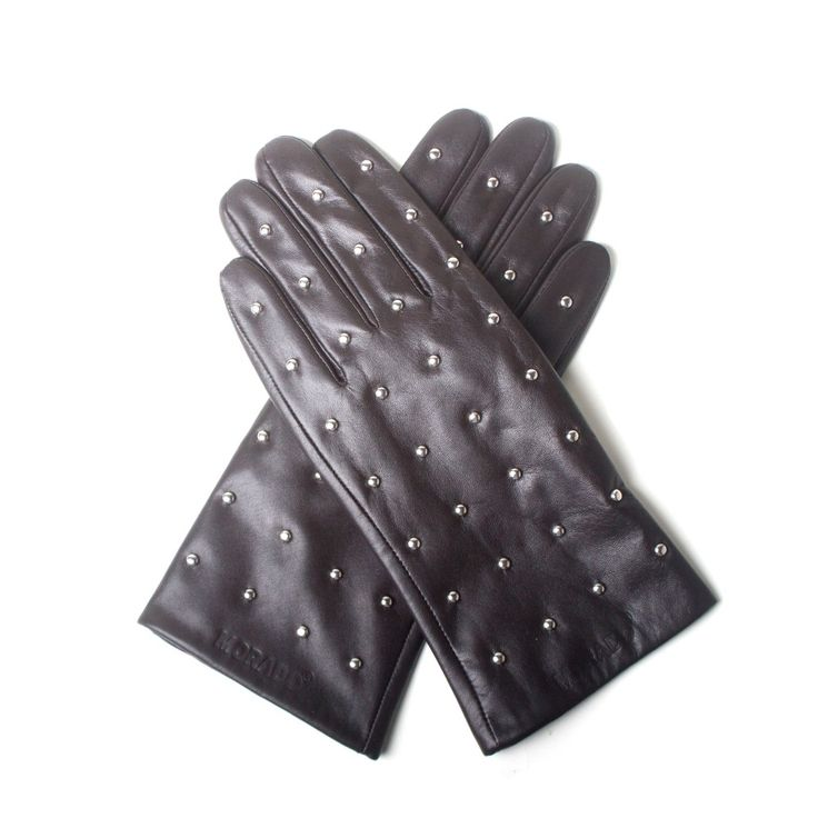 Morado Stud gloves Black van Morado | Markita.nl