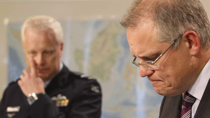 Immigration Minister Scott Morrison hiding behind the facts.  Censorial: Immigration Minister Scott Morrison's approach to providing information on asylum seekers has been called arrogance by Channel Nine's Laurie Oakes. Photo: Peter Rae