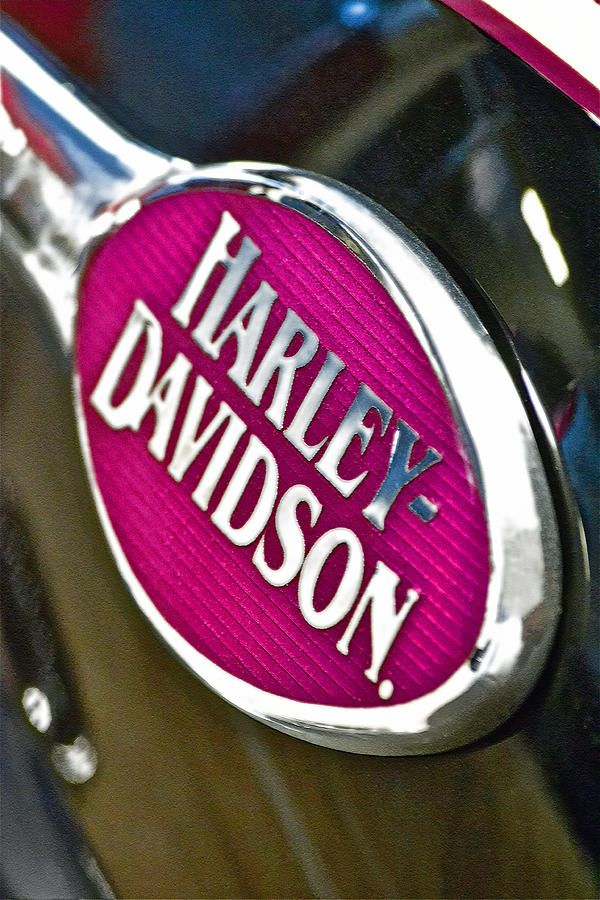 Pink Harley Emblem. For all your motorcycle battery needs, www.throttlexbatteries.com