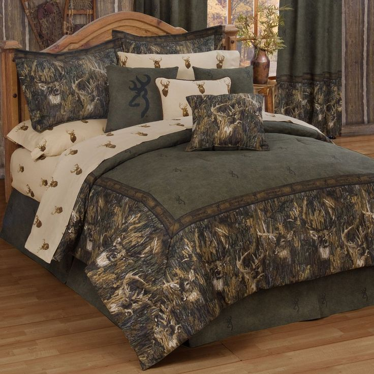 Browning Whitetails Comforter Set Queen Size