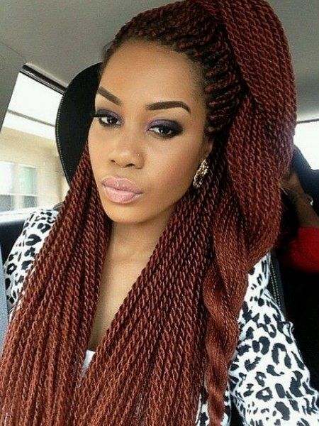 Long Senegalese Twists | Senegalese Twists also known as rope twist. Gives you a tighter and ...