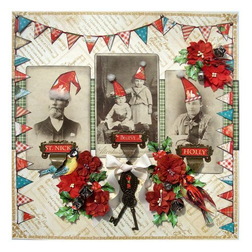 Love this The Twelve Days of Christmas layout by Nichola! What fun! #Graphic45 #layouts