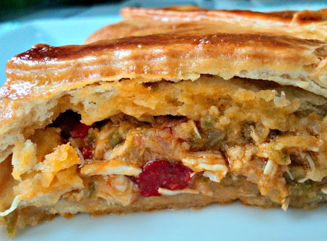 Empanada gallega de pollo Olor a hierbabuena