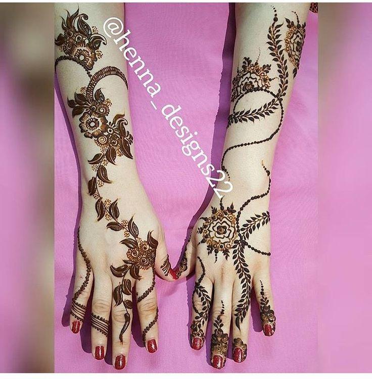 !اي نقشه حبيتوا اكثر ☺️ _  الحساب  برعاية : @zeinaokhazeina  @zeinaokhazeina @zeinaokhazeina  _ #makeup#dress#hennadesign#hennaart#hudabeauty#Hairstyle#haircolor#uk#usa#indiahenna#indian#kuwait#qatar#weddingdress#fashionblogger#makeupartiest#makeupblogger#حناء_دبي #حناء_هندي  ____  الحساب  برعاية : @zeinaokhazeina  @zeinaokhazeina  @zeinaokhazeina