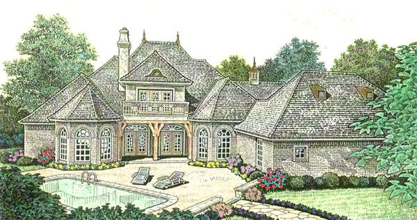 Country french country southern house plan 66237 country for French country house plans with porte cochere