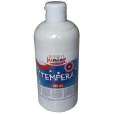 Pentart fehér tempera festék 500 ml műanyag flakonban - Pentart Junior 6483 Ft Ár 749 Pentart fehér tempera festék - Vízzel hígítható festék  Fehér tempera festék 500 ml műanyag flakonokban. A fehér tempera egyenletesen fed, keverhetősége kiváló más gyártású temperákkal is. A fehér tempera a többi tempera szín közül a leggyorsabban kifogyó szín. A tempera festék vízzel hígítható. A tempera festék adagolása kiváló a flakonból, hasonlóan mint a folyékony szappan. Egy flakon 500 ml tempera…