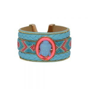 BRACE ME BUDDHA SMALL – BLAUW/ROZE  €13.95 bij sevenbien.nl  #armband #buddha #blue #accessories
