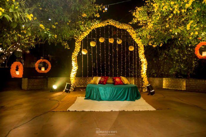 Decoration Ideas - The Grand Wedding! Photos, Bengali Culture, Beige Color, Decoration, Stage Decoration, Wedding pictures, images, vendor credits - The Umrao, Mandira Wirk, Amanpreet Photography, WeddingPlz