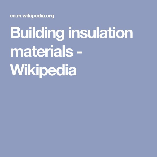 Building insulation materials - Wikipedia